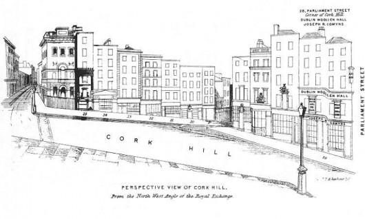 Cork Hill, Henry Shaw's 1850 Dublin Directory