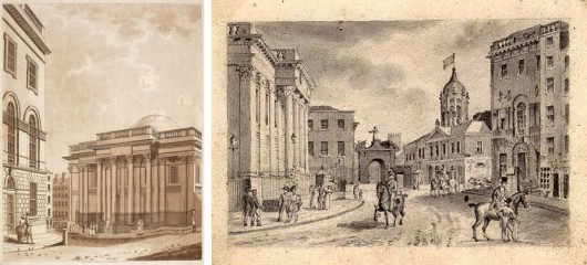 Royal Exchange from Castle Street, 1784 (National Library of Ireland)1
